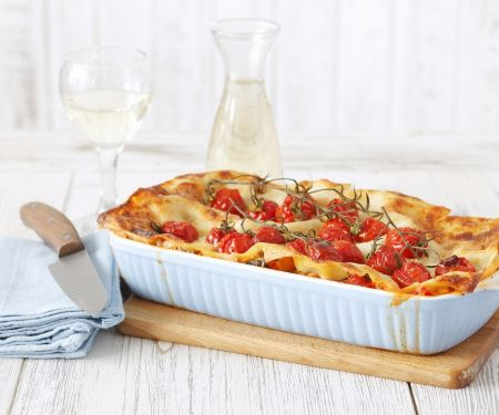Vegetarische Lasagne mit Kirschtomaten