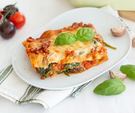 Vegetarische Spinat-Lasagne al forno