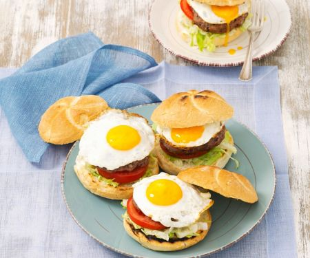 Vegi-Burger mit Bohnenbratling