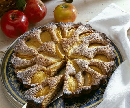 Versunkener Vollkorn-Apfelkuchen