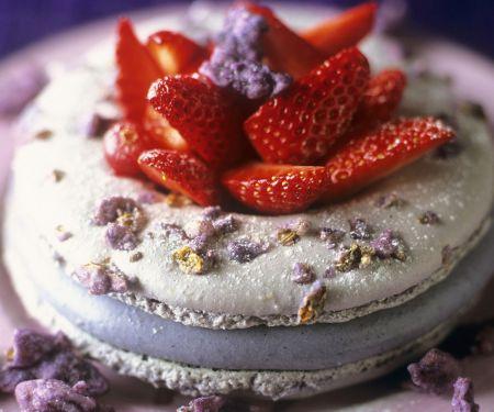 Violette Veilchen-Macarons