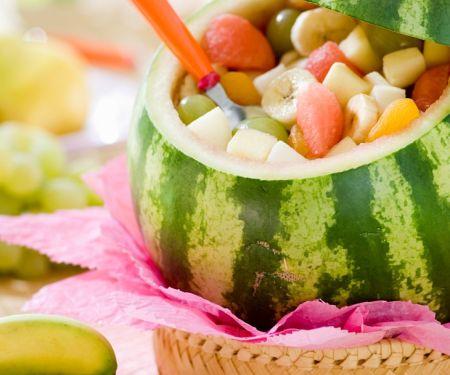 Wassermelone mit Obstsalat