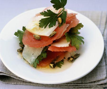 Wassermelone mit Pecorino