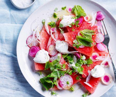 Wassermelonen-Radieschen-Salat