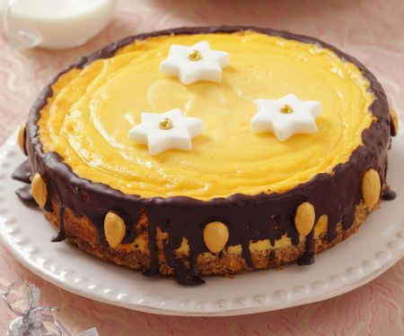 Weihnachtlicher Käse-Schoko-Kuchen