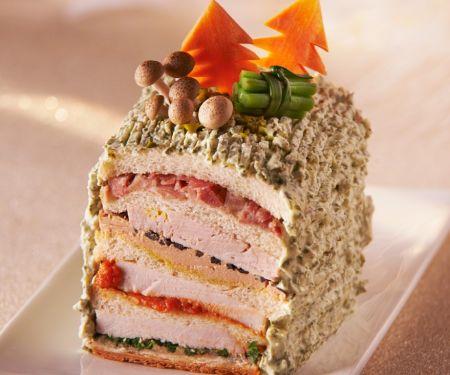 Weihnachtsliches Sandwich