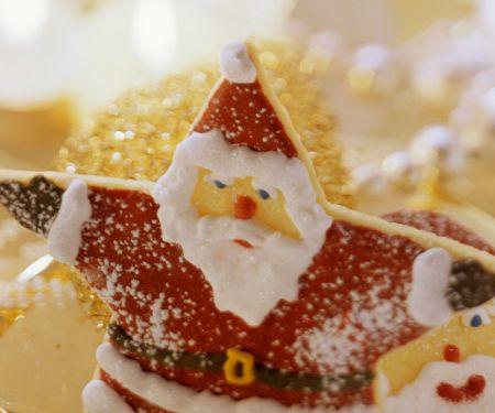 Weihnachtsmann-Plätzchen