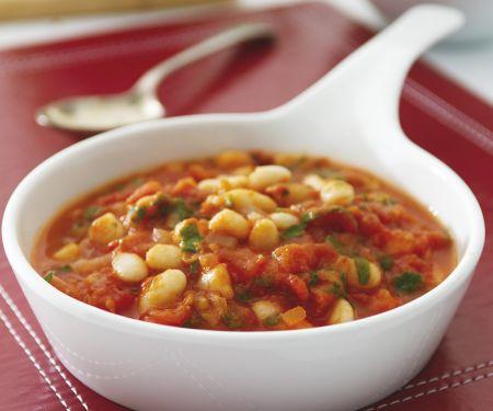 Weiße Bohnen mit Tomatensauce