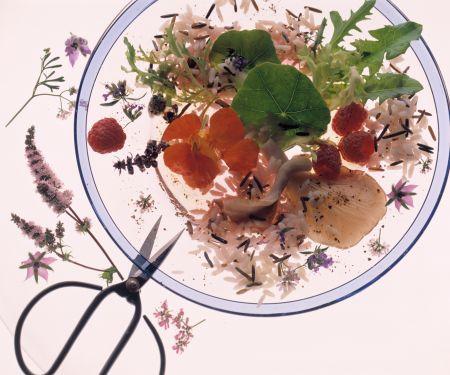 Wildreissalat im Blütenrausch