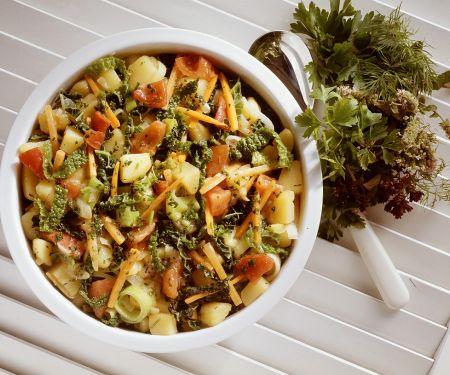 Wirsing-Gemüse-Topf