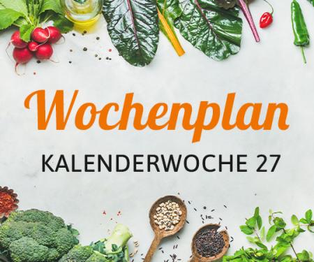 Wochenplan KW 27
