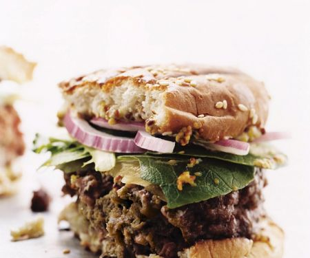 Würziger Rindfleischburger
