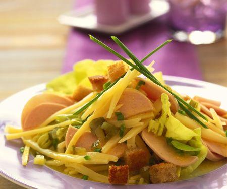Wurst-Käsesalat