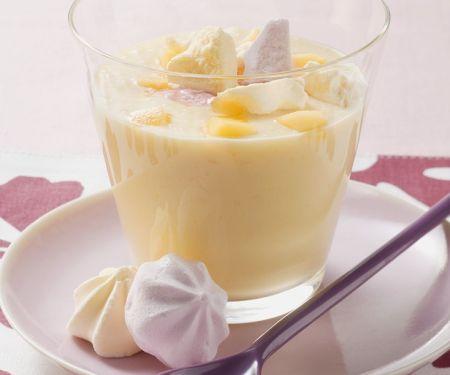 Zabaione mit Pfirsich