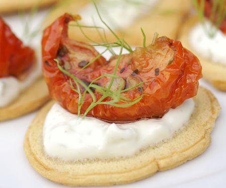 Zaziki-Tomaten-Häppchen