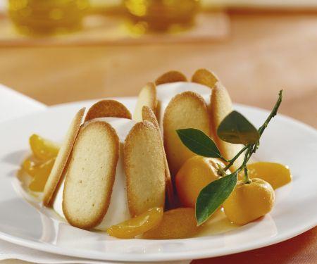 Zitronen-Charlotte mit Joghurt