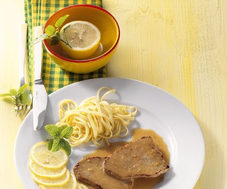 Zitronen-Kalbsschnitzel