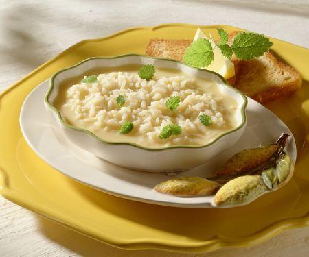 Zitronensuppe mit Reis