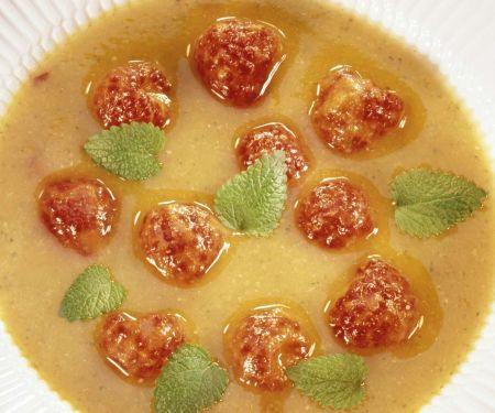 Zucchini-Aprikosensuppe