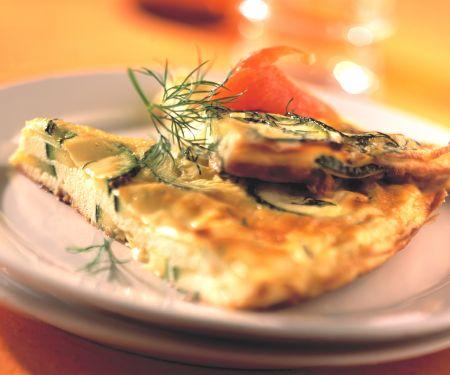 Zucchini-Frittata mit Lachs