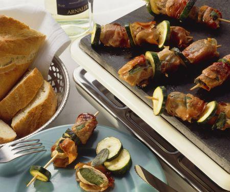 Zucchini-Kalbs-Spieße
