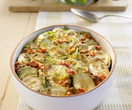 Zucchini-Minz-Gratin