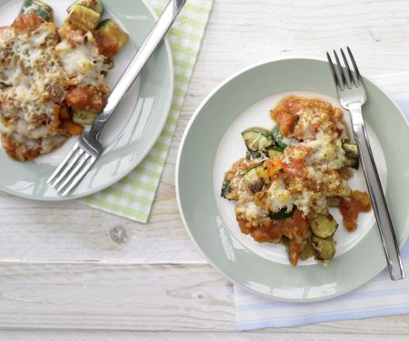 Zucchini-Tomaten-Auflauf