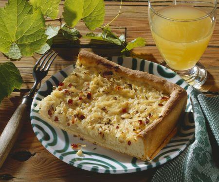 Zwiebelkuchen auf fränkische Art