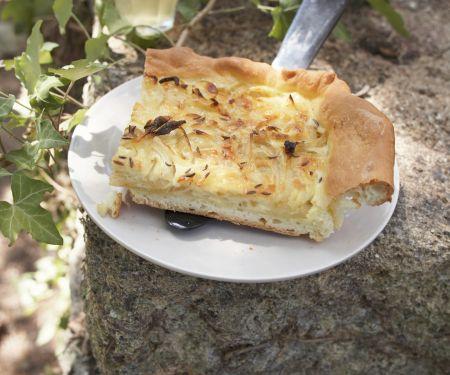 Zwiebelkuchen auf französische Art