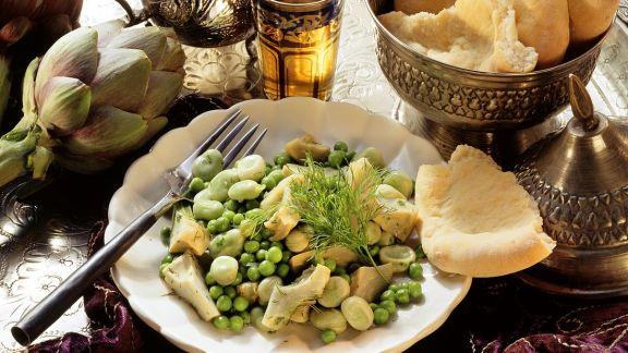 Rezept: Artischiockengemüse mit Hülsenfrüchten