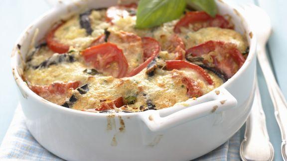 Rezept: Auberginen-Tomaten-Gratin