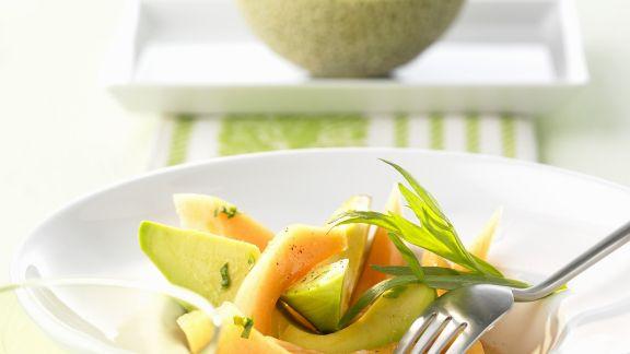 Rezept: Avocadosalat mit Melone
