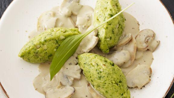 Rezept: Bärlauch-Mais-Nocken