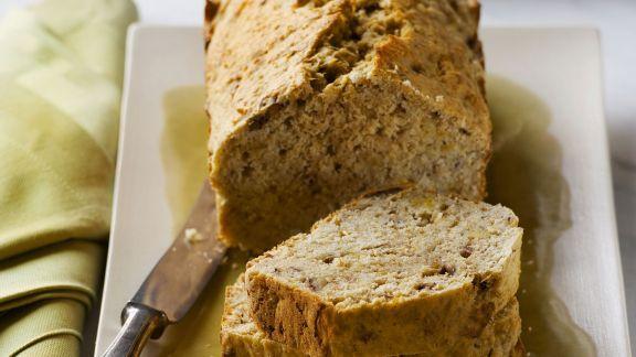 Rezept: Brot mit Bananen und Pekannüssen