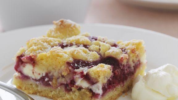 Rezept: Beerenkuchen mit weißer Schokolade