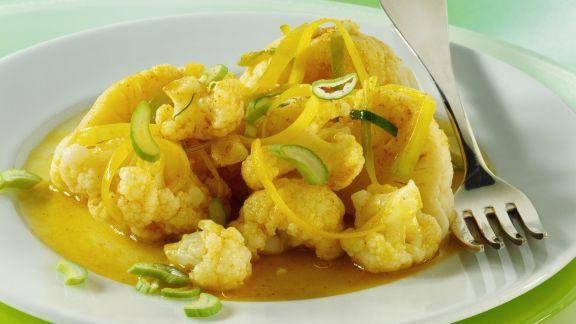 Rezept: Blumenkohl in Currysoße