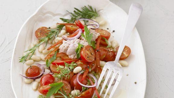 Rezept: Bohnen-Tomatensalat