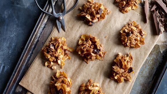 cornflakes nuss crossies mit schokolade rezept eat smarter. Black Bedroom Furniture Sets. Home Design Ideas