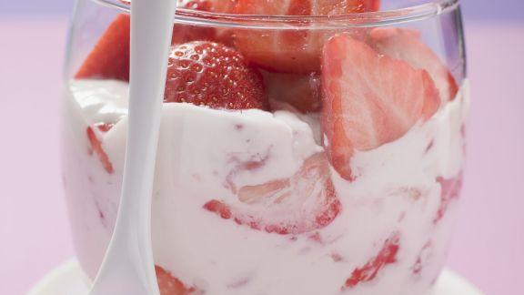 Rezept: Erdbeerquark