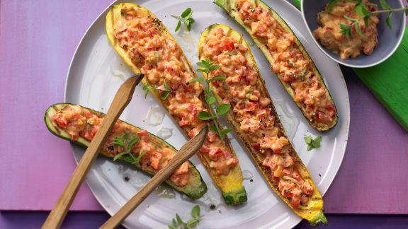Rezept: Gegrillte Zucchini mit Topping