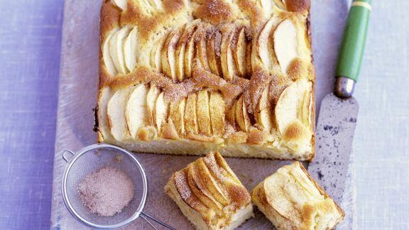 Rezept: Apfelkuchen vom Blech