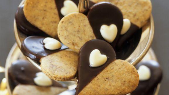 Rezept: Plätzchen mit Mokka in Herzform