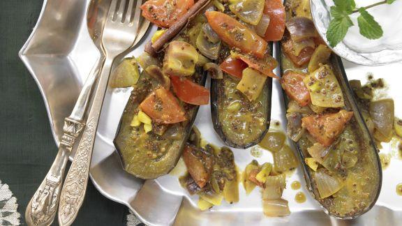 Rezept: Indisches Auberginenragout