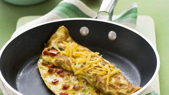 Rezept: Käse-Omelett mit Paprika