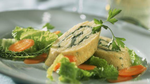 Rezept: Kartoffelrolle mit Schinken-Gemüse-Füllung