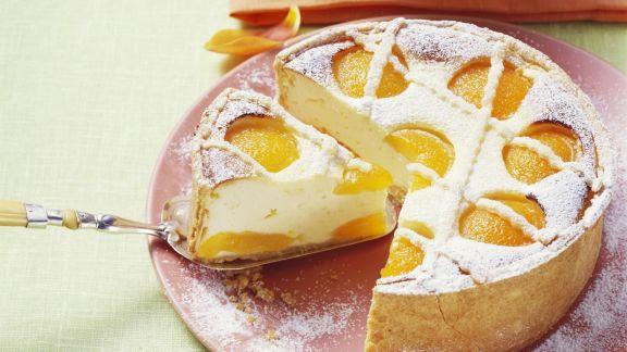 Rezept: Käsekuchen mit Aprikosen