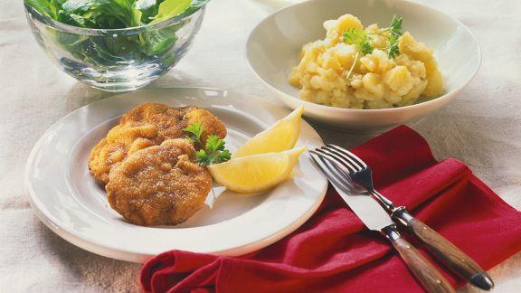 Rezept: Wiener Schnitzel mit Kartoffelsalat