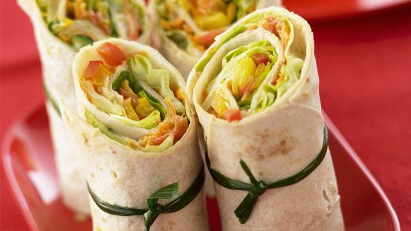 Rezept: Wraps mit Gemüse