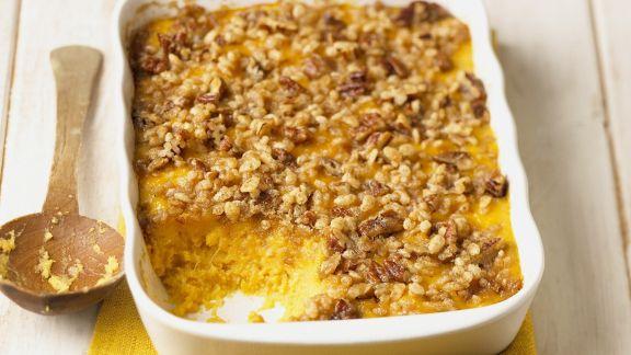 Rezept: Kürbis-Crumble mit Pecannüssen