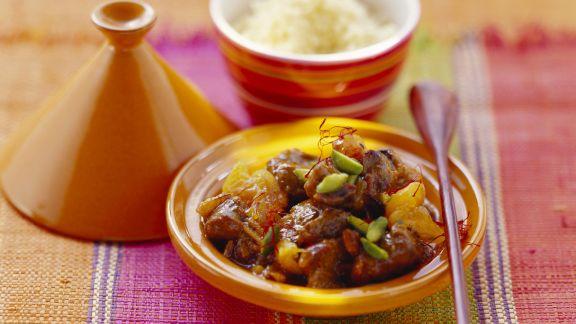 Rezept: Lamm mit Trockenfrüchten aus der Tajine